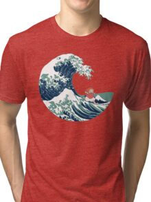 Ponyo and The Great Wave off Kanagawa - Moderne Tri-blend T-Shirt