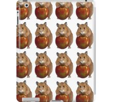 Hamster with Big Red Apple, Original Illustration iPad Case/Skin