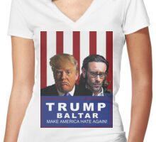Trump - Baltar : Make America Hate Again! Women's Fitted V-Neck T-Shirt