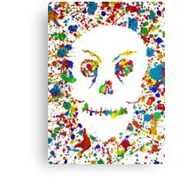 Splatter Skull Canvas Print