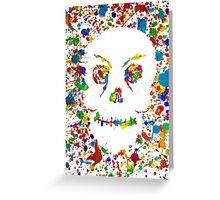 Splatter Skull Greeting Card