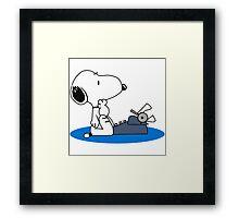 Cartoon Snoopy Framed Print
