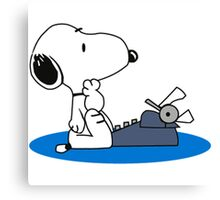 Cartoon Snoopy Canvas Print