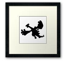 Lugia silhouette Framed Print