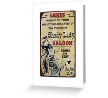 Shady Lady Saloon Greeting Card