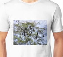 GONE BATTY--JUST HANGIN AROUND BATS VARIOUS APPAREL Unisex T-Shirt