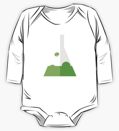 Conical Flask Pattern One Piece - Long Sleeve