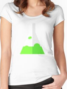 Conical Flask Pattern Women's Fitted Scoop T-Shirt
