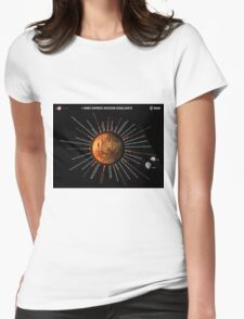 Mars Express Timeline Infographic Womens Fitted T-Shirt