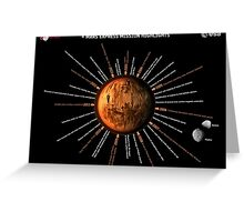 Mars Express Timeline Infographic Greeting Card