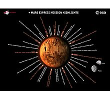Mars Express Timeline Infographic Photographic Print