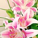 Watercolor Lilies by Lisa Taylor