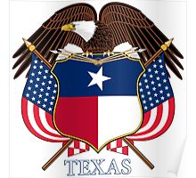 Texas Coat of Arms Poster
