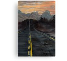 Northern AZ, End of the Road Canvas Print