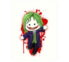 Cute Joker Chibi Art Print