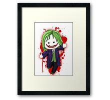 Cute Joker Chibi Framed Print