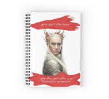 girl's don't like boys, thrandy Spiral Notebook