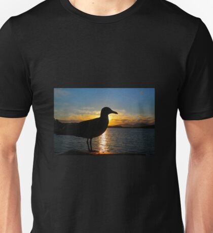Sunset Seagull  Unisex T-Shirt