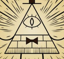 Gravity Falls Bill Cipher Wheel Sticker