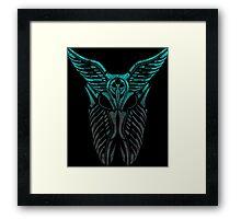 Shard Helm [ TURQUIOSE & SILVER ] Framed Print