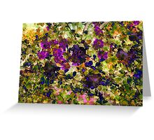 Wild flowers with Verbena Greeting Card