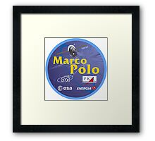 ESA's Marco Polo Mission to the ISS Logo Framed Print