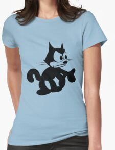 Felix the Cat Annoyed Womens Fitted T-Shirt