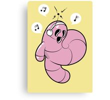 Worms Of Music Canvas Print