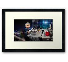 Doctor in the Tardis Framed Print