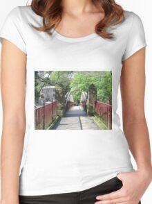Jubilee Bridge, Matlock Bath Women's Fitted Scoop T-Shirt
