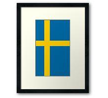 Sweden Flag Framed Print