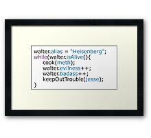 Breaking bad - code Framed Print