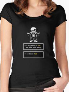 Undertale - Sans Skeleton - Undertale  Women's Fitted Scoop T-Shirt