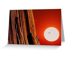 Sunset over Devils Tower .3 Greeting Card