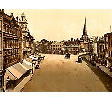 Vintage 1890 High Town Hereford England colour photo Photographic Print