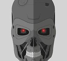 Terminator T-800 - Skull by inagawa