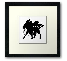 Suicune Silhouette Framed Print