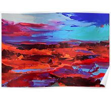 Canyon at Dusk - Art by Elise Palmigiani Poster