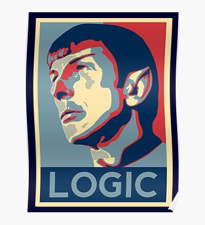 """Spock """"Logic"""" Poster Poster"""