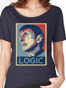 "Spock ""Logic"" Poster Women's Relaxed Fit T-Shirt"