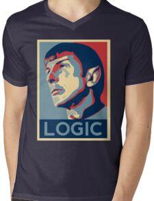 "Spock ""Logic"" Poster Mens V-Neck T-Shirt"