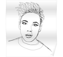 halsey continuous line Poster