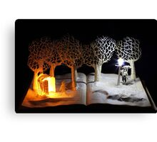 The Lion, The Witch and the Wardrobe Narnia book sculpture Canvas Print