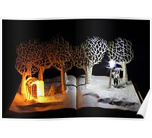 The Lion, The Witch and the Wardrobe Narnia book sculpture Poster