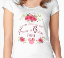 Epcot International Flower and Garden Festival Women's Fitted Scoop T-Shirt