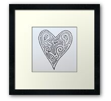 Heart tattoo  Framed Print