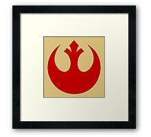 Rebel Alliance (red) Framed Print