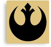 Rebel Alliance (black) Canvas Print