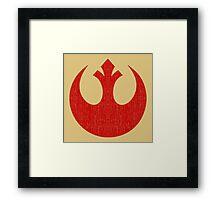 Rebel Alliance (red, distressed) Framed Print