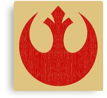 Rebel Alliance (red, distressed) Canvas Print